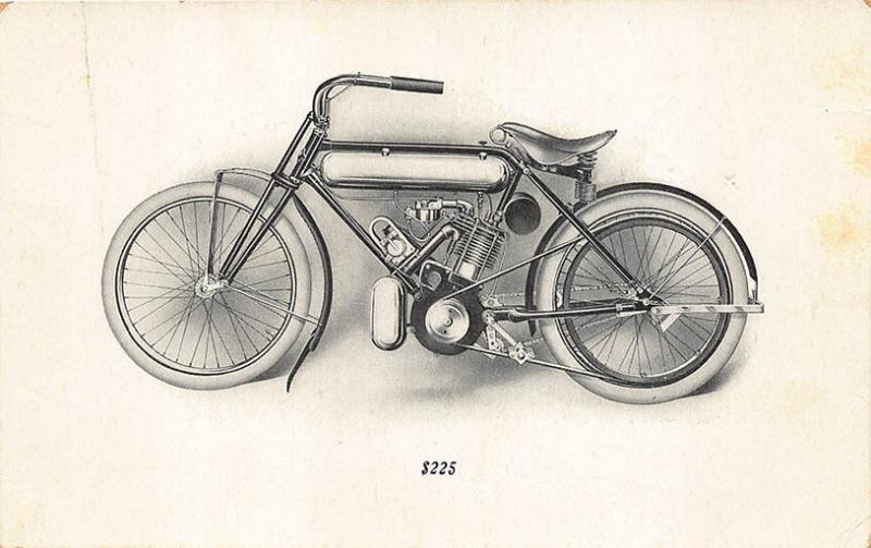 Brockton MA M. M. Magneto Special Motorcycle American Motor $225 Postcard