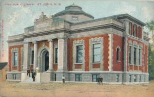 Free Public Library - St John NB, New Brunswick, Canada - pm 1907 - DB
