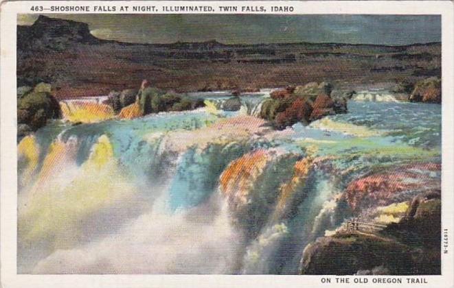 Idaho Twin Falls Shoshone Falls At Night