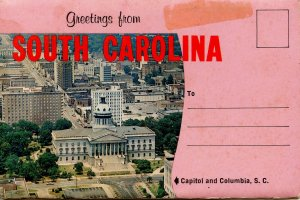Folder -  SC.   Greetings from South Carolina   (12 views) Stains on cover, p...