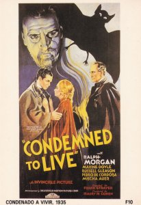 Condemned To Live Ralph Morgan Vampire Film Poster Postcard