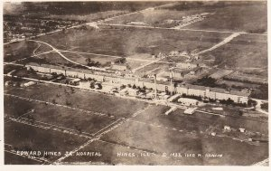RP: HINES, Illinois, 1932 ; Aerial View of Edward Hines Jr Hospital