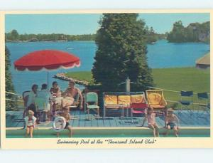 Unused Pre-1980 RESORT SCENE Thousand Islands New York NY c4554