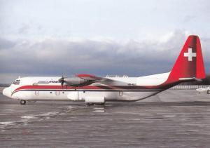 ZIMEX AVIATION, L-382G Hercules, unused Postcard