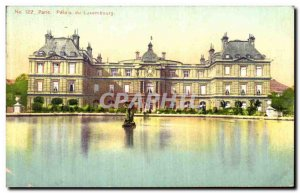 Old Postcard Paris Luxembourg Palace