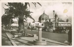 Nice, Le Palais de la Jetee, 1920s used Real Photo Postcard