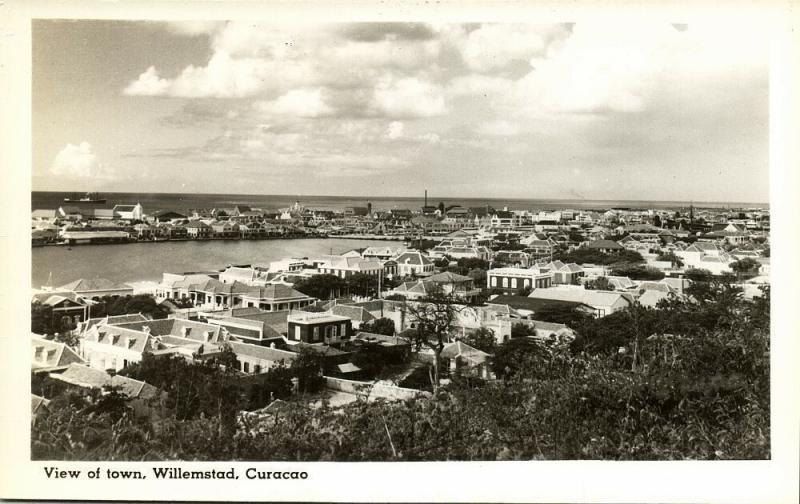 curacao, N.W.I., WILLEMSTAD, View of the Town (1940s) Cunard White Star
