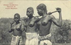 Afrique Occidentale Etude No 76 Jeunes Malinkes African Nude Nudes Postcard P...