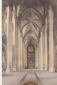 Hand Colored PC: Interior View, Cathedral of St. John the Divine, Nave Lookin...