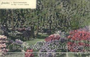 Kgl Grossen Garten Dresden Germany Unused