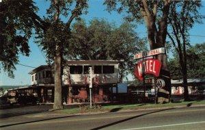 Postcard International Motel Calais Maine