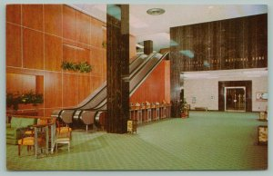 Tampa Florida~First National Bank~Main Lobby~Escalator~Executive Offices~1950s