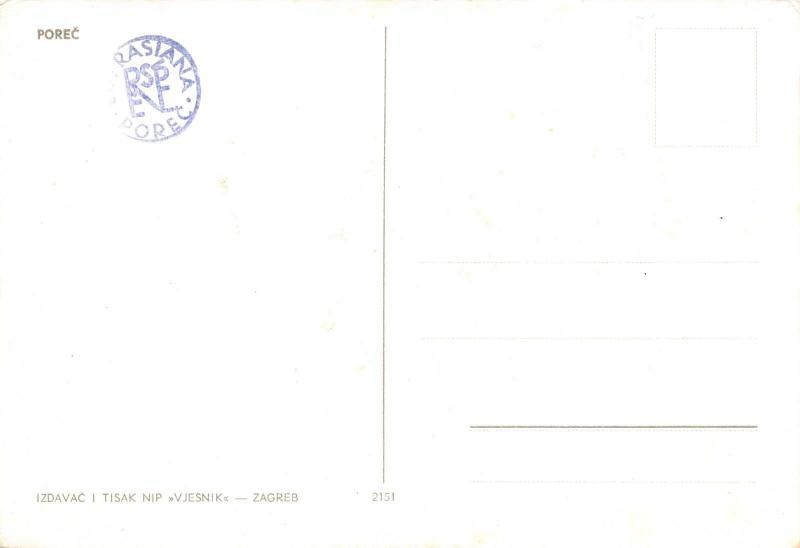 Vintage Postcard POREC, Yugoslavia, Jugoslavija B99