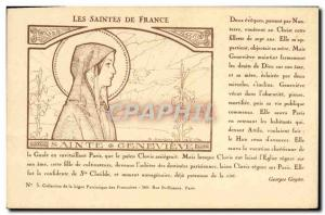 Postcard Old Surname The holy of France Sainte Genevieve