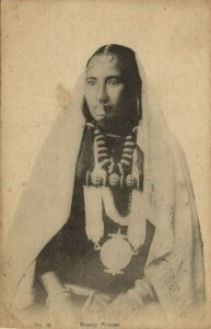nepal, Nepaly Woman, Jewelry Necklace Nose Piercing (1910s) Postcard