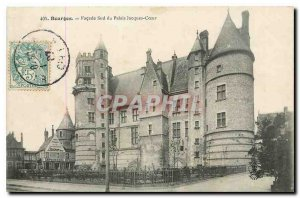 Old Postcard Bourges South frontage of the Palace Jacques Coeur