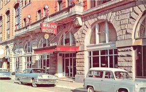 Clarksburg WV The Waldo Hotel Old Cars Postcard