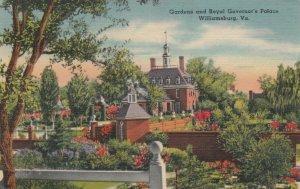 WILLIAMSBURG , Virginia , 1947; Gardens & Royal Governor's Palace
