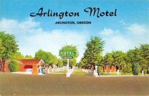 Arlington Oregon Motel Street View Vintage Postcard K57463