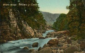 UK - Wales, Bettws-y-Coed. Miner's Bridge