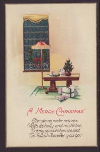 Merry Christmas,Indoor Scene Postcard