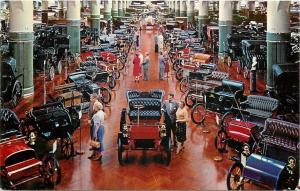 Dearborn Michigan~Antique Vintage Automobiles~Henry Ford Museum~1958 Postcard