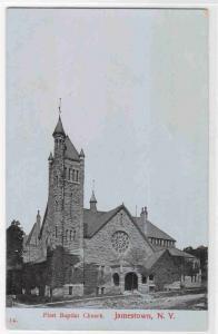 First Baptist Church Jamestown New York 1910c postcard