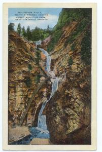 Seven Falls, South Cheyenne Canyon near Colorado Springs, CO, 1940 Linen