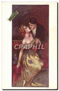 Old Postcard Fantasy Illustrator Woman Man