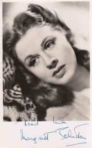 Margaret Johnston Antique Hand Signed Photo
