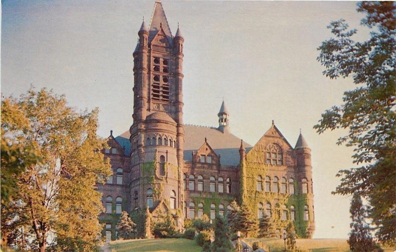 Syracuse University New York~Crouse Memorial Building~Castle on Hilltop~1950s