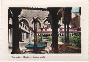 Post Card Italy Sicily Monreale Cloister - Arabian Fountain