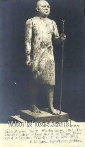Cairo Museum Eqypt Wooden Statue  Wooden Statue