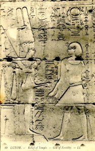 Egypt - Luxor. God of Fertility Relief of Temple