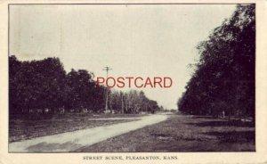 1911 STREET SCENE, PLEASANTON, KANS. dirt road