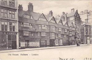 Old Houses Holborn, London, England, UK, 1900-1910s