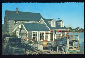 Quaint Maine/ME Postcard, Fisherman's Shack On Shore