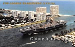 USS George Washington CVN-73 Fort Lauderdale, Florida Postcard Post Card Fort...