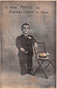 Circus Post Card, Old Vintage Antique Postcard Le Nain Marvel Du Nouveau Cirq...