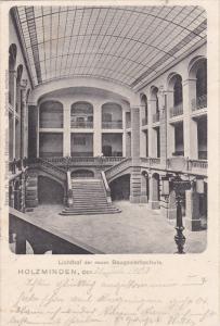 Holzminden , Lower Saxony, Germany , PU-1903 : Lichthof der neuen Baugewerksc...