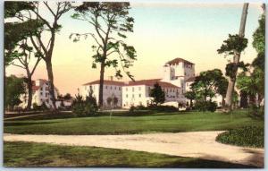 Monterey CA Postcard Hotel Del Monte HAND-COLORED Albertype c1930s Unused