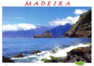 Postcard MADEIRA Sea, Rocks, Waves, Mountains #501