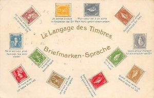 Le Langage des Timbres Briefmarken Sprache Stamp, Coin Unused