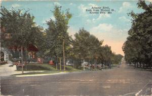 Kansas City Missouri~Armour Boulevard East @ Walnut Street~1919 Postcard