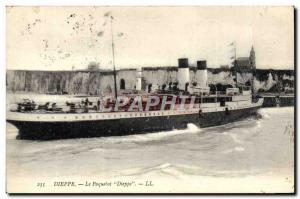 Postcard Old Ship Boat Dieppe