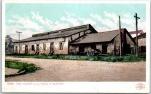 Monterey, CA Postcard First Theatre in California Detroit Photographic c1902