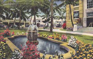 Fountain At Civic Center Lake Worth Florida Curteich