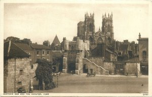 Postcard UK England Bootham bar and minster York