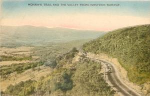 Massachusetts~Handcolored Mohawk Train~Valley from Western Summit~ 1910