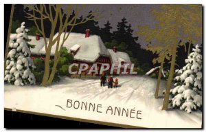 Old Postcard Happy New Year